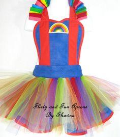 Rainbow Brite Costume Apron by FlirtyandFunAprons on Etsy, $50.00