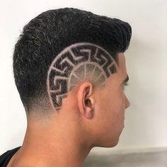 Fade Haircut Designs, Undercut Hair Designs, Hair Tattoo Men, Hair Tattoos, V Hair, Hair Art, Hair Tattoo Designs, Shaved Blonde, Black Hair Cuts