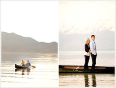 canoe engagement shoot