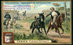 US Army Telephone Communications Troops c1902 Card