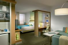 The spacious suites at SpringHill Suites Orlando at SeaWorld are perfect for family vacations.