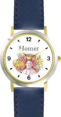 Homer - Blind Poet Author of the Iliad & The Odyssey - WATCHBUDDY® DELUXE TWO-TONE THEME WATCH - Arabic Numbers - Blue Leather Strap-Size-Children's Size-Small ( Boy's Size & Girl's Size ) WatchBuddy. $49.95. Save 38% Off!