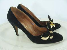 SALE Vintage Sixties Heels  1960s Rosina Ferragamo Schiavone