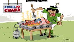 Charge do Dum (Zona do Agrião) sobre a vitória da Chapecoense sobre o Cruzeiro, pelo #CampeonatoBrasileiro (30/06/2016). #Charge #Dum #Brasileirão #Cruzeiro #Chapecoense #HojeEmDia
