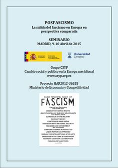 Seminario 9-10 de abril de 2015 Madrid