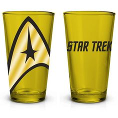 rogeriodemetrio.com: Star Trek Yellow Pint Glass