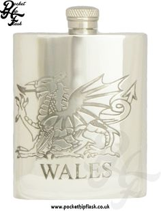 English Pewter Welsh hip Flask at The Pocket Hip Flask Company: