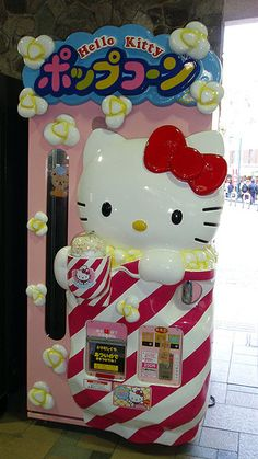Hello Kitty Popcorn Vending Machine, want 1 in my house