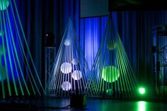 Christmas Bubble Cages from Grace Community Church in Fort Smith, AK   Church Stage Design Ideas