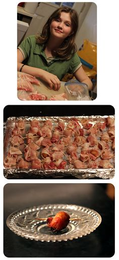 Bacon wrapped Water Chestnuts - one of my favorite appetizers! (Shut it, Peterson. This one's not a joke! Appetizer Dishes, Appetizer Recipes, Appetizers, Bacon Wrapped Water Chestnuts, Football Snacks, True Food, Christmas Snacks, Wrap Recipes, Holiday Baking