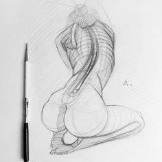 Andrey Samarin.  Stylized Study. Pencil. 2.03.17. #back #torso #draw #sketch #sketching #drawing #pencil #draft #искусство #bw #graphic #charcoal #спина #ставрополь #рисунок #artlovers #sketches #illusration #galleryart #pencildrawing #beautiful #blackandwhite #igers #графика #artwork #pencilart #instaart #artist #sketchbook #art