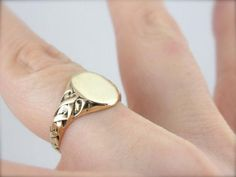 Viking Braid: Gorgeous Woven Signet Ring from marketsquarejewelers on Ruby Lane