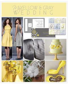 I'm thinking possibly yellow & gray!!
