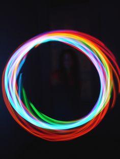 Rechargeable Chakra LED Hula Hoop.