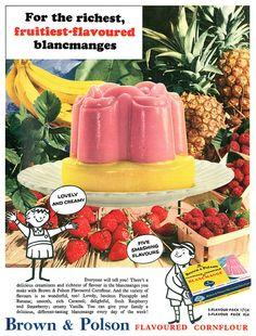Brown & Polson Blancmange advertisement. | Flickr - Photo Sharing!