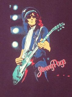 Rare 1985 THE FIRM JIMMY PAGE (M) Blue Rock Concert TShirt 80s Led Zeppelin #StarPrints #GraphicTee