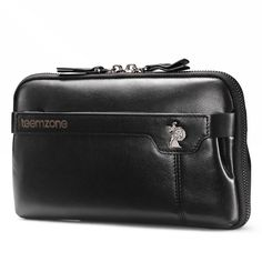 Hot New Men s Genuine Leather Business Clutch Bag Handbag Purse Zipper Wallet