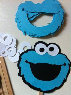 DIY Cookie Monster Inspired Kids Party Craft- Set of 8. $8.25, via Etsy.