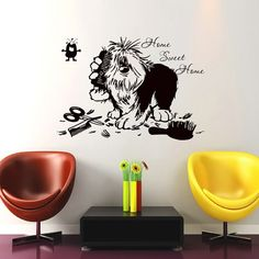 Dear Buyers, Welcome to our shop!  Wall Decals Home Swit Home Quote Decal Vinyl Sticker Dog Flea Scissors Comb Petshop Grooming Salon Home Decor Art