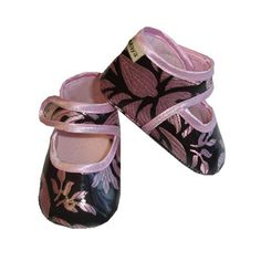 Baby Bella Maya Pink Champagne Booties. See More Shoes at http://www.ourgreatshop.com/Shoes-C201.aspx