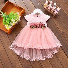bibihou Gril Dress Summer Style Dresses Infant flower girl dresses Baby Girls wedding Costume Party Princes Dress Children cloth #Affiliate