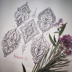 WEBSTA @ alex_tabuns - Новые свободные эскизы #blackart #ornament #tattooflash #tabuns
