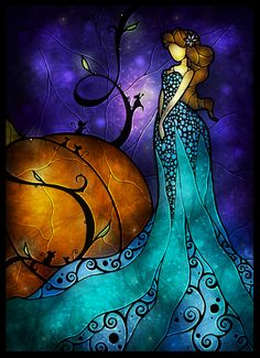 Cinderella (Fairy Tales by Mandie Manzano) (Stained Glass)