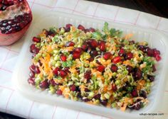 Sprouted Moong Salad with Carrot and Pomegranate - Udupi Recipes - Sprouted Moo. - Sprouted Moong Salad with Carrot and Pomegranate – Udupi Recipes – Sprouted Moong Salad with C - Healthy Recepies, Healthy Salad Recipes, Diet Recipes, Vegetarian Recipes, Cooking Recipes, Recipies, Easy Cooking, Recipes Dinner, Indian Salads