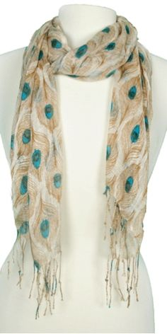 Peacock scarf. love.