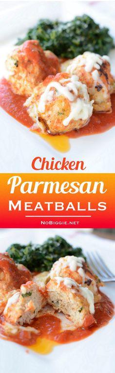 chicken parmesan meatballs | NoBiggie.net