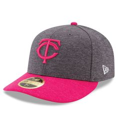 Minnesota Twins New Era Mother's Day Low Profile 59FIFTY Fitted Hat - Graphite/Pink - $35.99