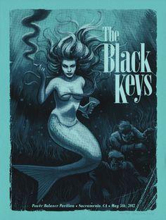 The Black Keys - Concert Poster (Sacramento 2012)