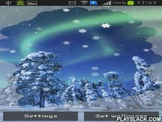 Aurora: Winter  Android App - playslack.com , Aurora: Winter - pretty live wallpapers with winter scenery and charged lights. The app has many settings, is touch sensitive and has power saving mode.
