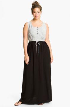 Splendid Mixed Media Maxi Dress (Plus)