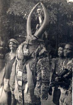 Mgbedike masquerade, Nigeria, 1946