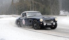 Austin Healey 3000 is no stranger to rallying (car #12)
