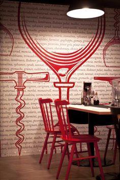 mode:lina architekci have designed the Fiesta Del Vino Wine Bar in Poznan, Poland.