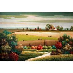 Real Handmade Landscape Oil painting Oil Paintings, Landscape Art, Golf Courses, Play, Handmade, Hand Made, Oil On Canvas, Paisajes, Handarbeit
