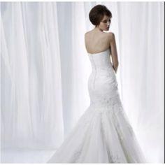 The back of my wedding dress