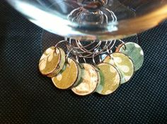 Cork Wine Charms Upcycled and Repurposed Green by TrishasDandelion, $7.00