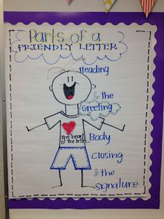 friendly letter anchor chart  Goes perfectly with my lesson except I use the arms extend as the greeting.