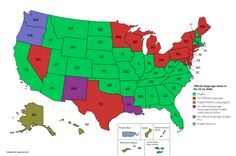 Official language status in the US by State