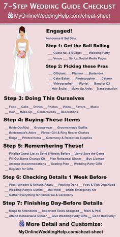 Wedding Checklist Timeline, Wedding Checklist Printable, Wedding Planning Checklist, Printable Wedding Invitations, Wedding Checklists, Event Planning, Plan Your Wedding, Budget Wedding, Wedding Tips