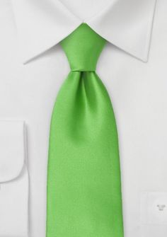 Mikrofaser-Businesskrawatte Clip unifarben grün