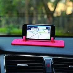 Car Mount Holder, Outtek New Silicone Pad Dash Mat Cell Phone Car Holder Cradle Dock for Samsung iPhone All Different Size Phone and GPS, Table PC Holder (Red) -- You can find out more details at the link of the image. Iphone 4s, Android Ou Iphone, Handy Gadgets, Car Gadgets, Car Mount Holder, Car Holder, Smartphone, Accessoires Pour Camping Car, Girly Car