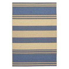 Couristan Five Seasons South Padre Indoor/Outdoor Area Rug - Cream/Blue