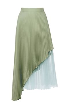 This **Christopher Kane** skirt features pleating throughout and an asymmetrical design.