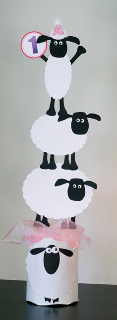 Shaun the Sheep Center Piece Party Decorations by thepaperlion, $22.50