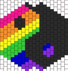Rainbow yinyang bead pattern