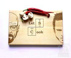 Breaking Bad planche à découper, Let's Cook, Jesse Pinkman, Heisenberg gravée, Walter White, personnalisé gravé, cadeau pour lui